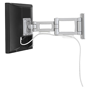Bretford Dual Arm Articulating Wall Mount FPSM-W-2-AL