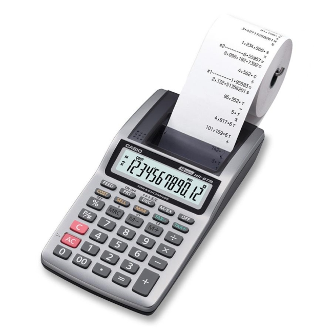 Casio Large LCD Printing Calculator HR8TM