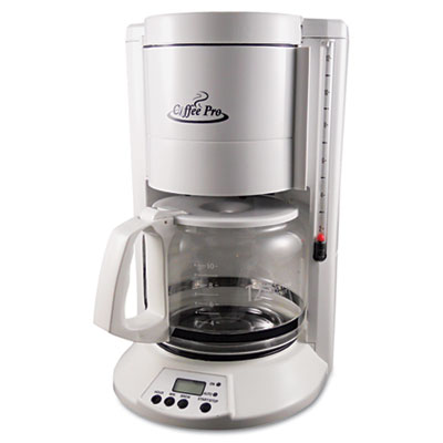Coffee Maker For Large Groups : Home/Office 12-Cup Coffee Maker, White Coffee Pro CP330W OGFCP330W Coffee Brewers Breakroom Supplies