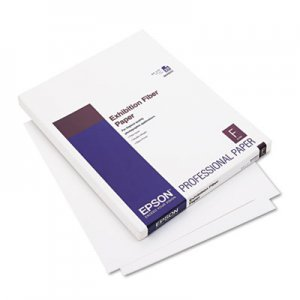 Epson Exhibition Fiber Paper, 8-1/2 x 11, White, 25 Sheets EPSS045033 S045033