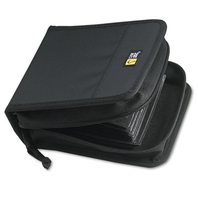 Case Logic CD/DVD Wallet, Holds 32 Disks, Black CDW-32 CLGCDW32 CDW32