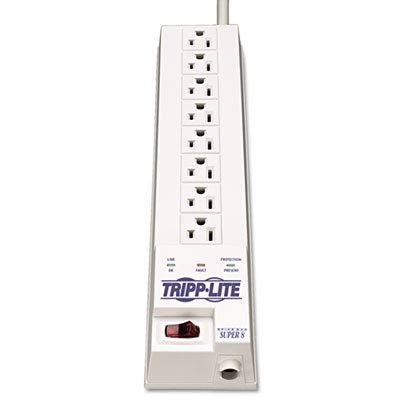 Tripp Lite SK6-6 Protect It! Surge Suppressor, 8 Outlets, 8 ft Cord, 1080 Joules, White TRPSK66 SK6-6