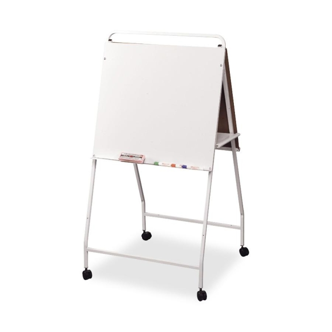 MooreCo Eco Wheasel Double-Sided Easel Stand with Wheels 33563 BLT33563