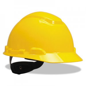 3M H-700 Series Hard Hat with 4 Point Ratchet Suspension, Yellow MMMH702R H-702R