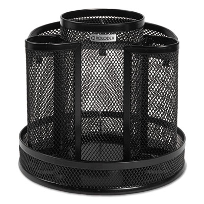 Wire mesh spinning desk sorter black rolodex 1773083 - Spinning desk organizer ...