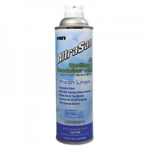 MISTY AltraSan Air Sanitizer & Deodorizer, Fresh Linen, 10oz Aerosol Spray AMR1037236EA 1037236EA