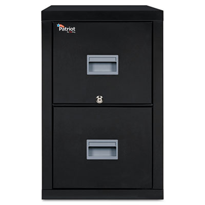 FireKing Patriot Insulated Two-Drawer Fire File, 20-3/4w x 31-5/8d x 27-3/4h, Black FIR2P2131CBL