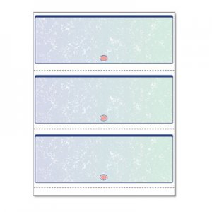 DocuGard Premier Prismatic Check, Blue/Green, 3/Page, 13 Features, 8 1/2 x 11, 500/RM PRB04539RM 04539