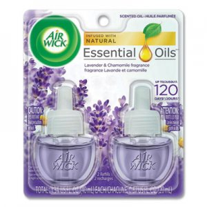 Air Wick Scented Oil Refill, Lavender & Chamomile, 0.67oz, Purple, 2/Pack RAC78473 62338-78473