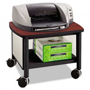 Safco Impromptu Under Table Printer Stand, 20-1/2w x 16-1/2d x 14-1/2h, Black/Cherry SAF1862BL