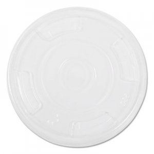 NatureHouse Compostable Cold Cup Lids, Flat, For 10, 12, 16oz Cups, Clear, 1000/Carton SVAFK09