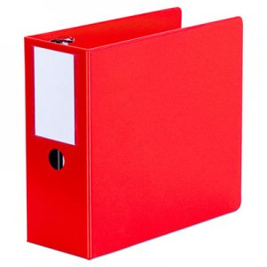 "Genpak D-Ring Binder, 5"" Capacity, 8-1/2 x 11, Red UNV20716"