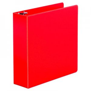 "Genpak Economy Non-View Round Ring Binder, 3"" Capacity, Red UNV30409"