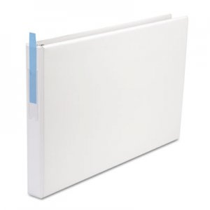 "Genpak Ledger-Size Round Ring Binder with Label Holder, 1"" Capacity, 11 x 17, White UNV35420"