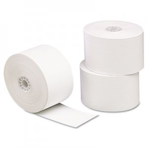 "Universal Single-Ply Thermal Paper Rolls, 1 3/4"" x 230 ft, White, 10/Pack UNV35711"