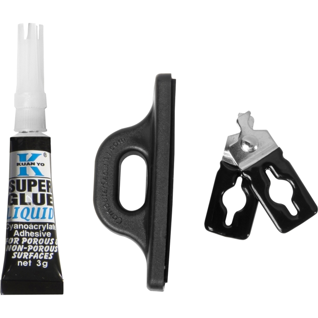 CSP Cable Lock Accessories - Scissor Clip and Glue-on Attachment CSP800755