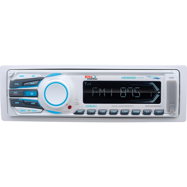 Boss Audio MP3 Compatible Bluetooth Solid State AM/FM Receiver, USB/SD, AUX-Input MR1308UAB