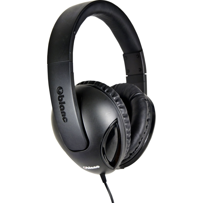 SYBA Multimedia Oblance Cobra Black Stereo Headphone w/In-line Microphone OG-AUD63038