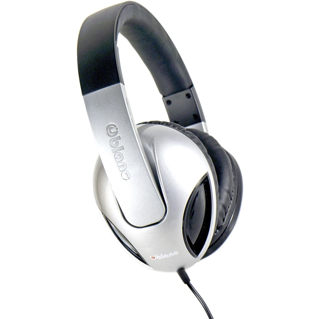 SYBA Multimedia Oblanc Cobra Silver Stereo Headphone W/In-line Microphone OG-AUD63040