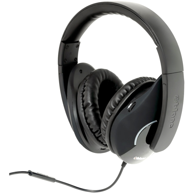 SYBA Multimedia Oblanc Shell Black Subwoofer Headphone w/In-line Microphone OG-AUD63055