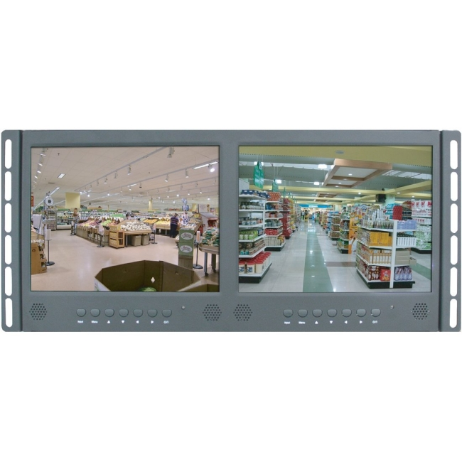 ViewZ Dual Display LED Rack Mount Ready VZ-097RCR-D