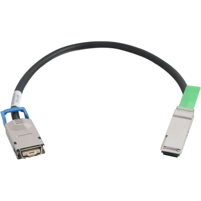 C2G 0.5m 28AWG CX4/QSFP+ InfiniBand Cable 06170