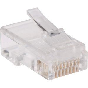 Tripp Lite 100-Pack of RJ45 Plugs for Flat Solid / Stranded Conductor Cable N030-100-FL