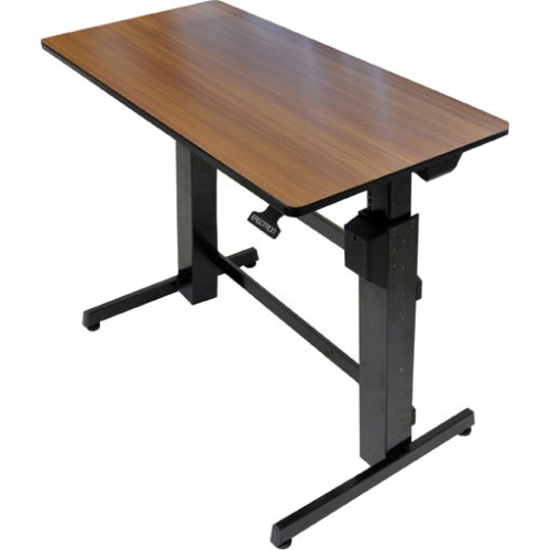 Ergotron WorkFit-D, Sit-Stand Desk (Walnut Surface) 24-271-927