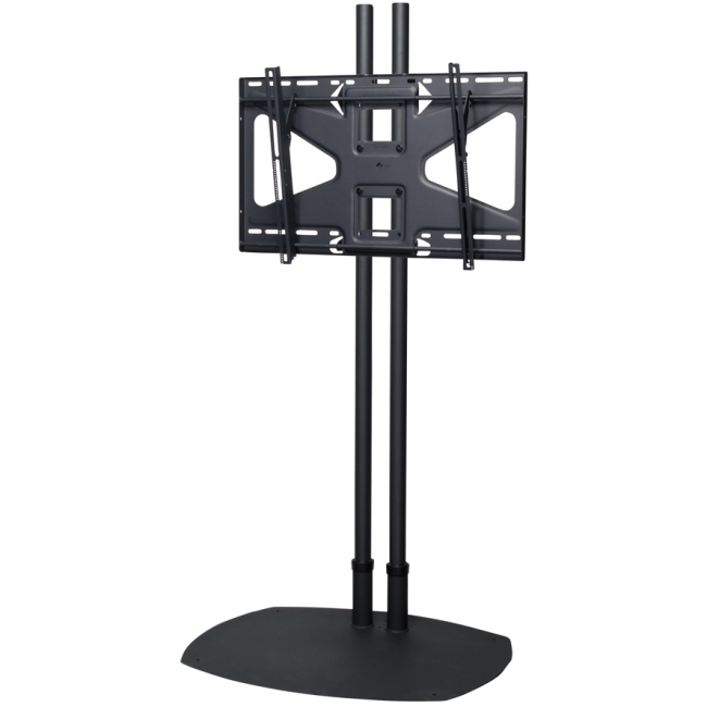 Premier Mounts Low-Profile Floor Stand with 72 in. Dual Poles and Tilting Mount for Flat-Panels up to 175