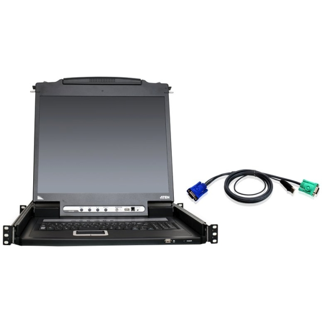 "Aten 16-Port 19"" LCD KVM Kit with 12-USB Cables CL5716NUKIT"
