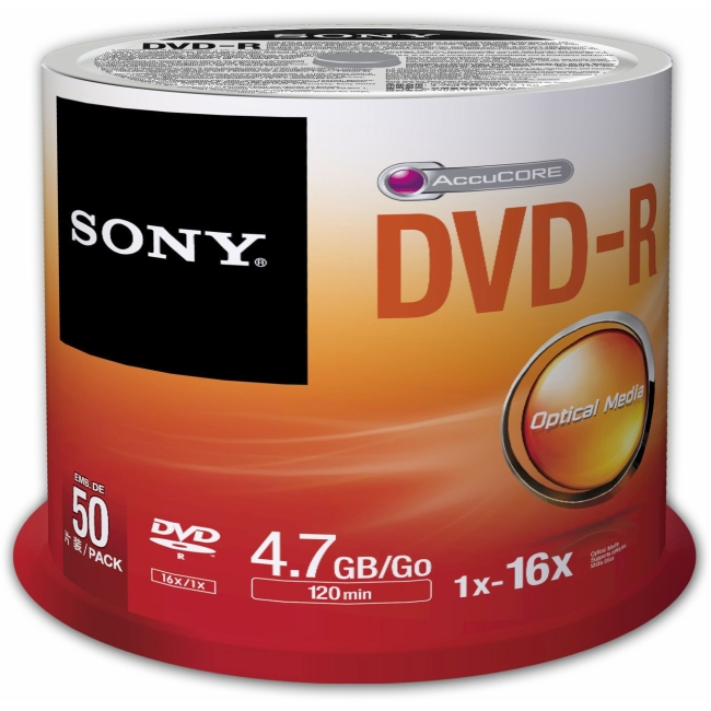 Sony DVD Recordable Media 50DMR47SP