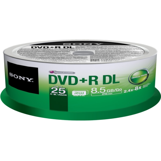 Sony DVD Recordable Media 25DPR85SP