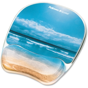 Fellowes Photo Gel Mouse Pad Wrist Rest with Microban Protection 9179301