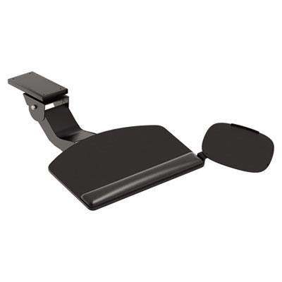 HON Articulating Arm With Convertible Keyboard, Tray: 28w x 11-1/2d, Black HON2107 HKB900P