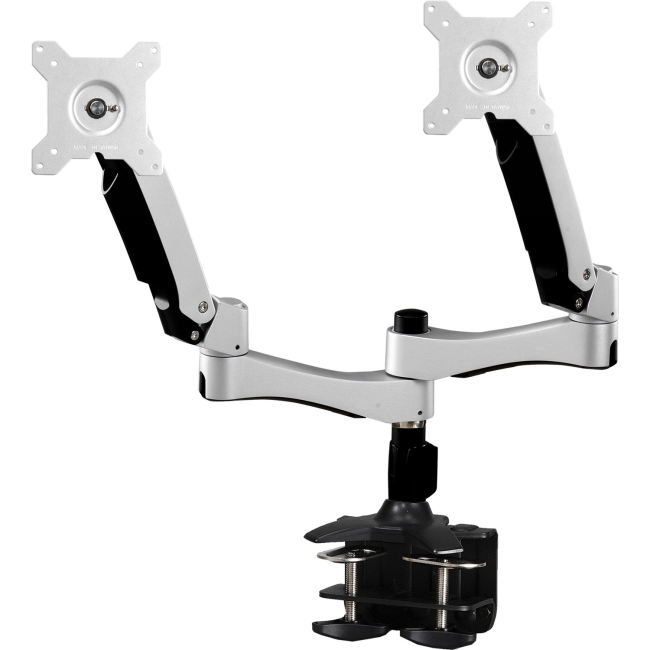 "Amer Mounts Dual Articulating Monitor Arm. Supports up to 26"", 22lbs and VESA AMR2AC"