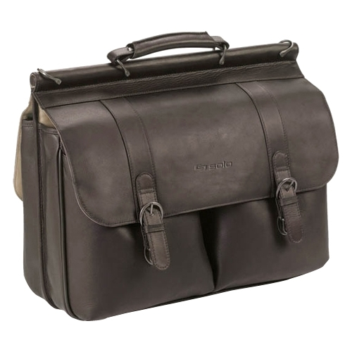 "Solo Classic 16"" Leather Briefcase (D535) D535-3U2"