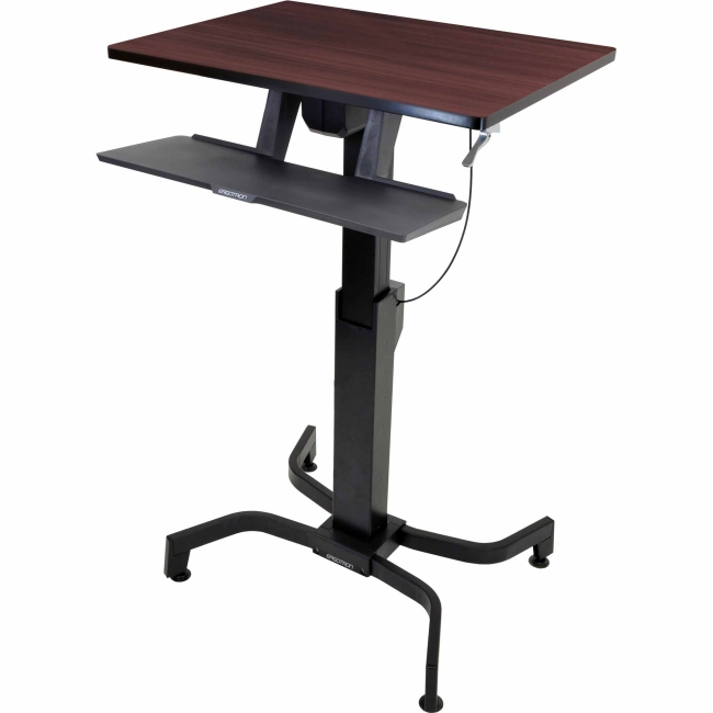 Ergotron WorkFit-PD, Sit-Stand Desk (Walnut) 24-280-927