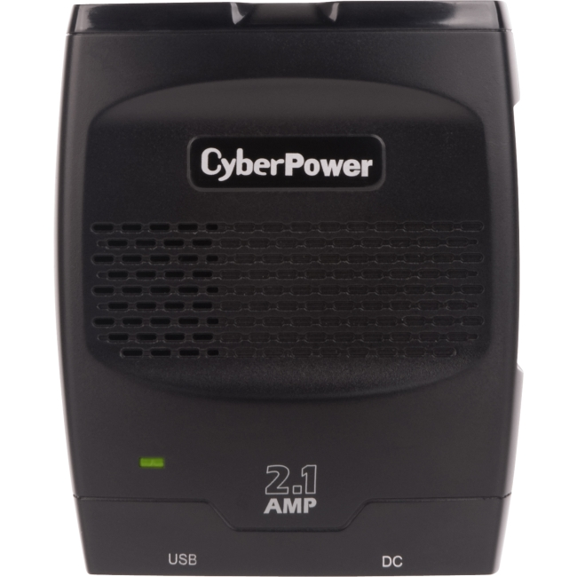 CyberPower Mobile Power Inverter 175W with 2.1A USB Charger - Slim Line Design CPS175SURC1