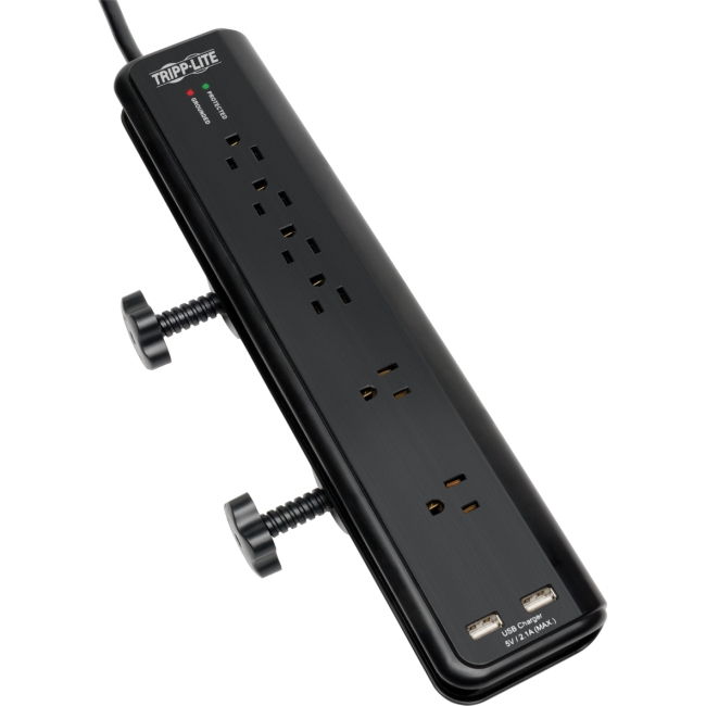 Tripp Lite Protect It! 6-Outlets Surge Suppressor TLP606DMUSB