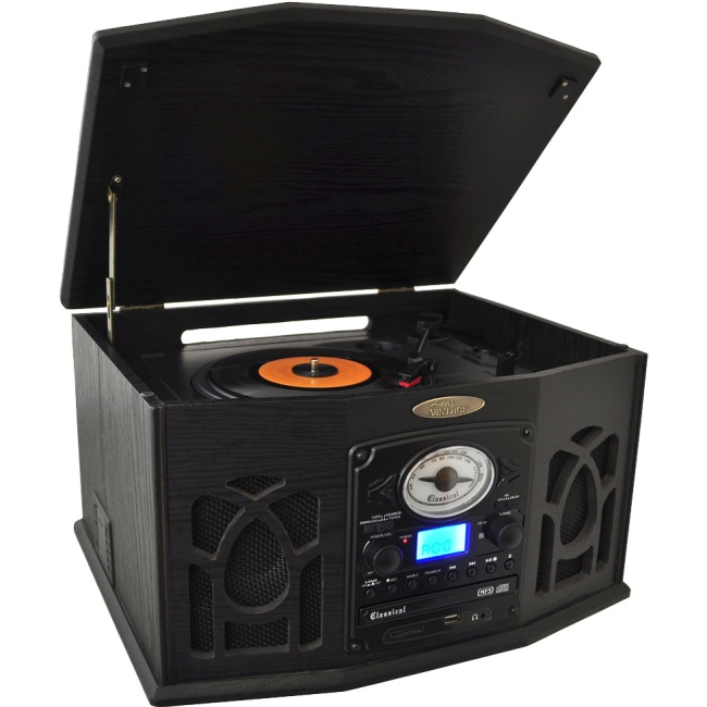PyleHome Record/CD/Cassette Turntable PTCDS7UIB