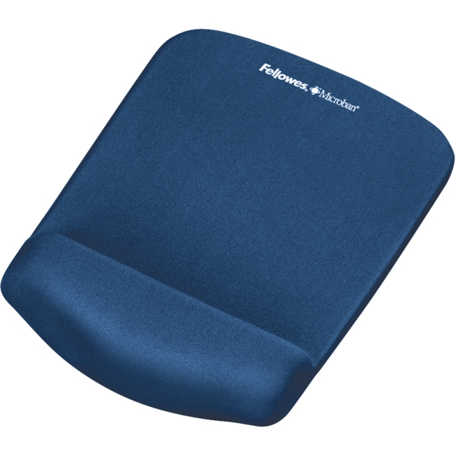 Fellowes PlushTouch Mouse Pad/Wrist Rest with FoamFusion Technology - Blue 9287301