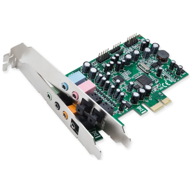 SYBA Multimedia Multi-channel PCI-Epress Sound Card - Main Card SD-PEX63081
