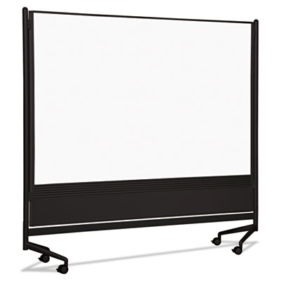 Best-Rite D.O.C. Mobile Double-Sided Marker Board Divider, 72 x 72, Black BLT74902 74902