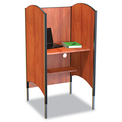 BALT Height-Adjustable Carrel, Laminate, 31w x 30d x 57-1/2 to 69-1/2h, Cherry BLT90294 90294