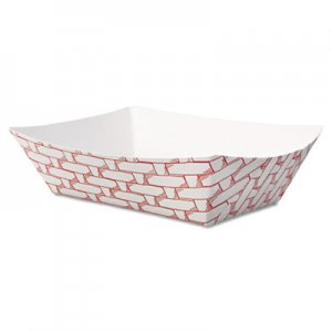 Boardwalk Paper Food Baskets, 1/2 lb Capacity, Red/White, 1000/Carton BWK30LAG050