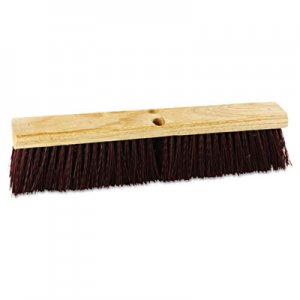 "Boardwalk Floor Brush Head, 18"" Wide, Maroon, Heavy Duty, Polypropylene Bristles BWK20318"