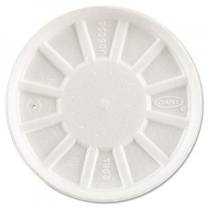 Dart Vented Foam Lids, Fits 6-32oz Cups, White, 500/Carton DCC20RL DCC 20RL