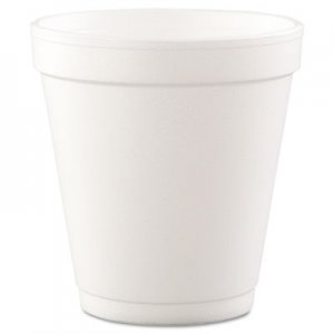 Dart Conex Hot/Cold Foam Drinking Cups, 10oz, Squat, White, 40/Bag, 25 Bags/Carton DCC10J12 10J12