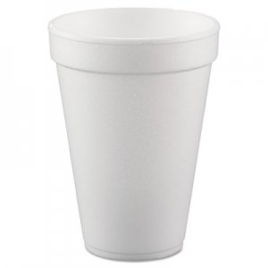 Dart Conex Hot/Cold Foam Drinking Cups, 10oz, White, 40/Bag, 25 Bags/Carton DCC10FJ8 10FJ8
