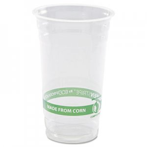 Eco-Products GreenStripe Renewable & Compostable Cold Cups - 24oz., 50/PK, 20 PK/CT ECOEPCC24GS EP-CC24-GS